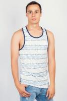 Майка-борцовка мужская бело-голубая AG-0003666 Бело-синий|escape:'html'
