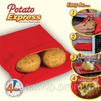 Мешочек для запекания картофеля в микроволновой печи Potato Express Код:103244