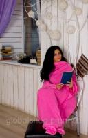 Пледы с рукавами из флиса (женский) Розовый