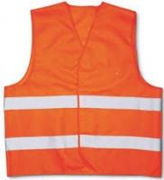 Сигнальный жилет оранжевого цвета со светоотражающими элементами|escape:'html'