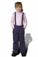 Брюки (штаны) для девочки (фиолетовые, серые) с поттяжками|escape:'html'