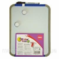 Доски детские для рисования Deli 39154 22х28 пластик рамка, кругл вугли + маркер+ 2 магн Код:388907200|escape:'html'