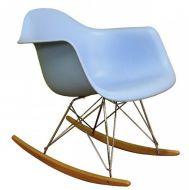 Кресло-качалка Тауэр R, полозья бук, пластик, цвет голубой|escape:'html'