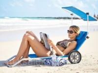 Удобный Лежак Пляжный с козырьком на колесах 3в1|escape:'html'