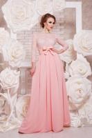 Женское вечернее платье, персиковое, р.S,M,L *