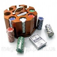 Покерный набор (200 фишек,2 колоды) (25х22х18 см)(вес фишек 10,5 гр ,d-4 см,без номинала) Код:19853|escape:'html'