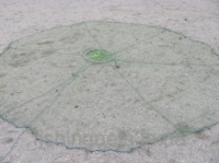 Кастинговая сеть из капроновой нити с большим кольцом диаметром 6 м (парашют, намет)|escape:'html'