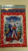 Фольгированный пакет Н.Г (25*40) №14 Дед Мороз и зайка (100 шт)