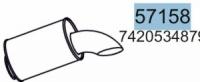 Глушник RENAULT MAGNUM/PREMIUM,VOLVO FH/FM/FL 7420534879,20564260, 81722 (вироб-во HOBI)|escape:'html'