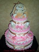 Торт из подгузников « Розовый с зайчиком»|escape:'html'