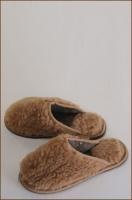 Тапочки домашние меховые с войлочной подошвой