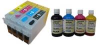 Перезаправляемые картриджи для EPSON Stylus S22 SX125 SX130 с чернилами ink-mate EIM110 (4х100 мл)|escape:'html'