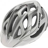 Шлем велосипедный Miuro Cratoni L/XL бело-серебряно-черный