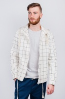 Куртка мужская в клетку, ветровка  AG-0003500 Молочный