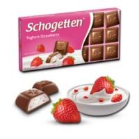 Шоколад Молочный Schogetten Yoghurt-Strawberry 100г, Шоколад Schogetten Клубничный Йогурт