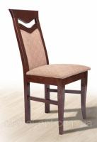 Стул деревянный буковый с мягким сиденьем и спинкой Ситроен, темный орех, ткань Luiziana-5 escape:'html'