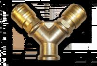 Двойник РВ 3/8« + 2 коннектора - латунь|escape:'html'