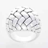 Серебряное кольцо с плетеной текстурой. Оригинальные украшения. escape:'html'