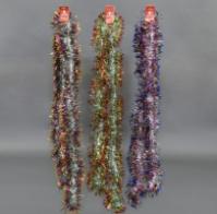 Дождик на ёлку, 3 вида, 2 метра, цена за связку 10шт, 1 цвет в связке