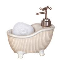 Дозатор с мочалкой Белая ванна|escape:'html'