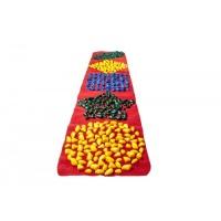 Массажный коврик с цветными камушками (200*40 см) детский развивающий новинка