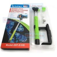 Z07-5 v2 KjStar Оригинал палка для селфи, selfie stick, ручной монопод штатив с встроеной кнопкой bluetooth original|escape:'html'
