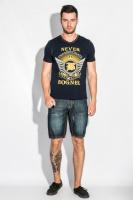 Шорты мужские джинс в стильных оттенках AG-0005980 Чернильный|escape:'html'
