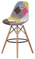 Барный стул Пэрис Вуд Пэчворк (Paris Wood Patchwork), H-66см escape:'html'