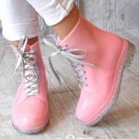 Силиконовые ботинки для непогоды розовые|escape:'html'