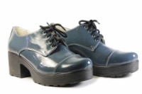 Женские кожанные лакированные туфли Villomi, 4020-01|escape:'html'