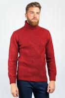 Гольф мужской теплый, свитер с горлом AG-0002700 Красный