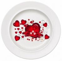 Тарелка керамическая белая, площадь запечатки d 120 мм размер тарелки d 200, PR750|escape:'html'
