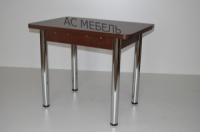 Стол кухонный раскладной на металлических ногах венге темный|escape:'html'