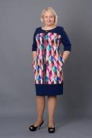 Женское осеннее платье с оригинальным принтом Лилит escape:'html'