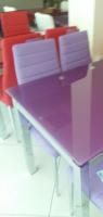 Стол стеклянный раскладной ТВ014 фиолетовый 96/156*70*75 см|escape:'html'