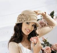 Шляпка из валяной шерсти «Мерлин» - 452 молочный Код:2215|escape:'html'
