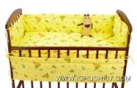 Комплект в детскую кроватку «Кроха» «4 элемента - ткань бязь» - «Жираф, ослик» К4/001 - цвет бежевый ТМ Алекс