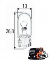 Автомобильная лампа 24V W3W 2.1x9.5D (без цоколя)