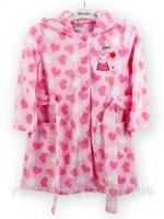Теплый халат для девочки из мягкого и нежного флиса высокого качества.|escape:'html'