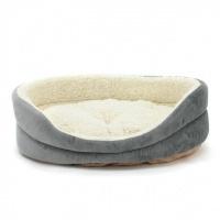 РАСПРОДАЖА! Лежак для собак овальный серый|escape:'html'