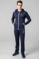Спортивный костюм зимний с капюшоном Kiro Tokao - 439S темно-синий-белый