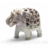 Слон из мыльного камня резной (10,5х12,х6 см) Код:26613