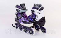 Роликовые коньки раздвижные  ZELART Z-9004V (р-р 35-38, 39-42) ELEMENT (PL, PVC,колесо PU,алюм. рама,фио)|escape:'html'