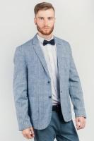 Пиджак летний мужской на две пуговицы AG-0003738 Бело-синий|escape:'html'