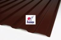 Профнастил цветной, толщина 0,4 мм, ПС-20, цвет: шоколад, 1,5м х 1,16м|escape:'html'