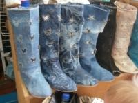 Сапоги летние джинсовые р. 36-41|escape:'html'