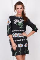Платье Ромашки на черном|escape:'html'