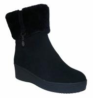 Зимние ботинки замшевые на хороший объём ноги|escape:'html'