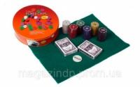 Покерный набор на 120 фишек в круглой металлической коробке Poker Chips  №120т Код:426316604 escape:'html'