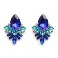 Серьги «Fendi blue» позолоченные с кристаллами swarovski|escape:'html'